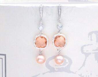 Earrings married Pearl-Charlotte-jewelry wedding - accessory bride-earrings wedding-earrings Freshwater Pearl