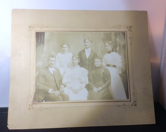 Vintage Family Photo | Vintage Photography | Black and White Family Picture | Antique Family Photo | Great Deal
