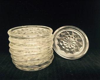 Vintage Glass Coasters