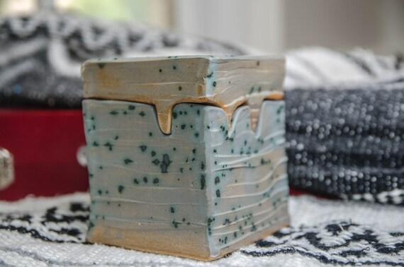 Blue Crystal Ceramic Box