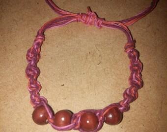 Bamboo/Hemp cord handmade bracelet