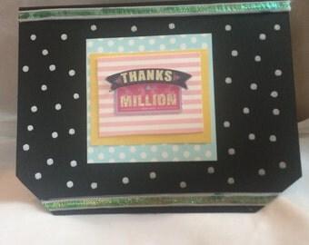 Handmade Thanks a million card