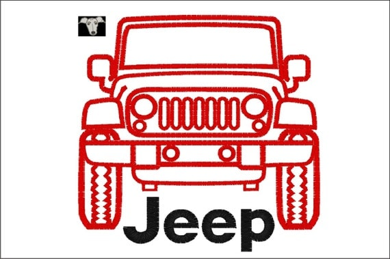 Jeep embroidery design in sizes