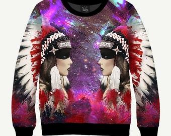 Squaw - Men's Women's Sweatshirt | Sweater - XS, S, M, L, XL, 2XL, 3XL, 4XL, 5XL