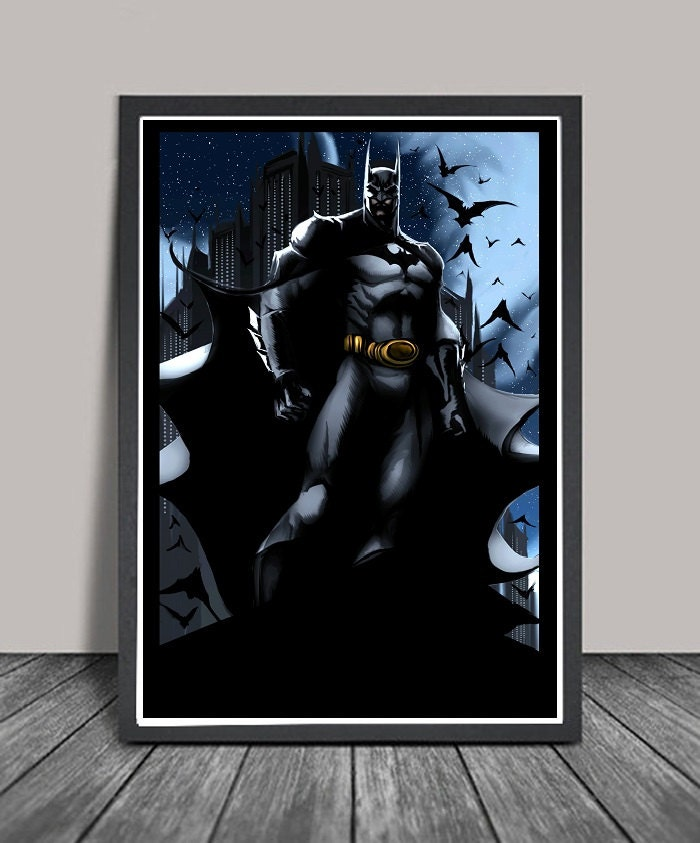 Dark Batman Home Decor Poster By Thundercool On Etsy