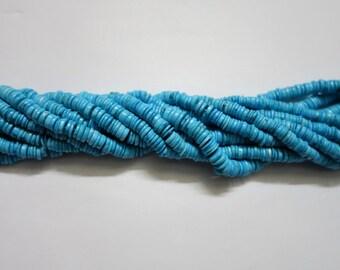 Turquoise smooth wheels ,Heishi Beads