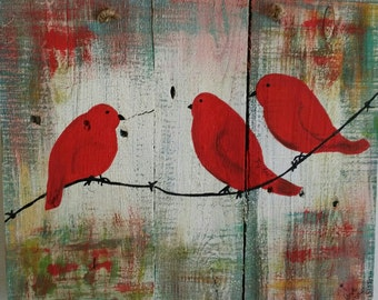 Beautiful Red Birds