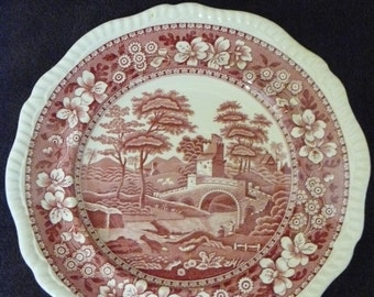 Copeland-Spode-Pink-Tower-Old-Mark-Dinner-Plate