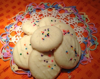 Whipped Shortbread Cookies-Homemade-Shortbread Cookie-Sprinkle, Buttery