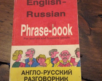 English to Russian Phrase Book for Tourists and Business People (A218)