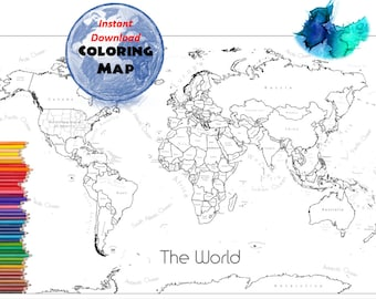 Coloring map usa coloring page usa outline plain no world map coloring page labeled world map a4 and 85x11 inch coloring book gumiabroncs Image collections