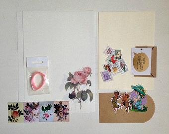 Snail mail penpal/kit (floral)