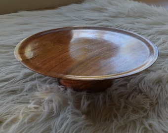 Resin Wood Cake Stand