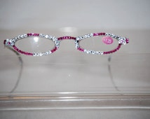 1.25 Swarovski Crystal Reading Glasses (fuchsia n clear  Crystal) FREE SHIPPING