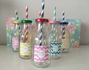 Colourful Baby Shower Labels