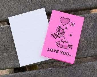 Pink Space Love You Card