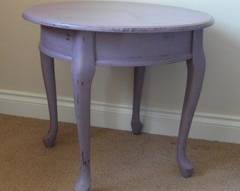 Coffee table / side table in pale aubergine, shabby chic distressed for COLLECTION or up to 50 miles delivery