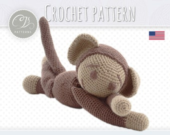 Amigurumi Pattern, Monkey, Stuffed Animal Crochet Pattern