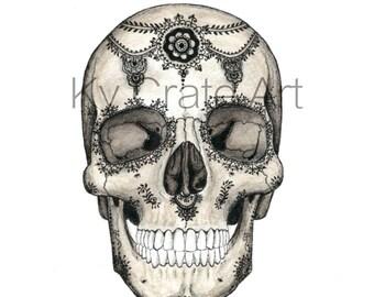 Henna Skull