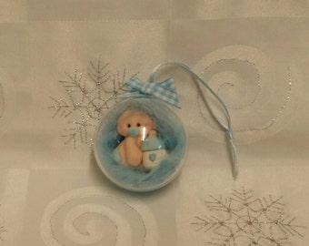 Handmade Gorgeous Baby Boy Bauble Keepsake