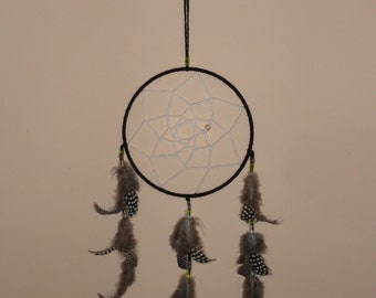 Dream Catcher made wtih Guinea Feathers