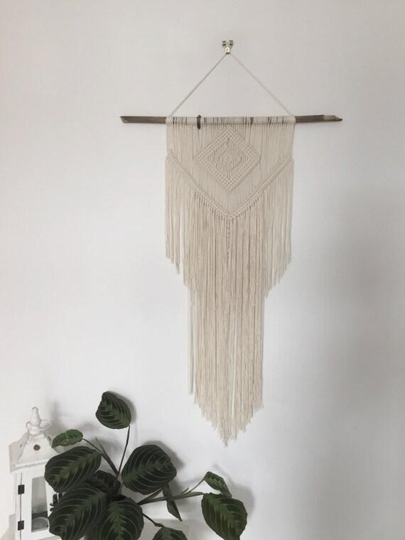 Boho Chic Wall Decor : Handmade macrame wall hanging decor boho chic art