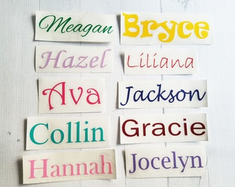 Personalized Name Decal | Any Word Decal | Word Vinyl Decal | Name Decal | Cup Decal | Car Decal | Phone Decal | Laptop Decal | Yeti Decal