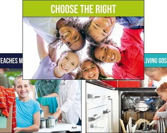 2017 Primary Theme 13-POSTER PACK (color horizontal) LDS - Choose the Right