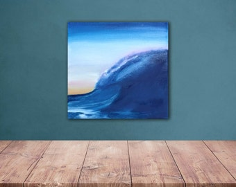 The wave, original oil painting on canvas