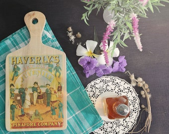 Haverly's Vintage Ads Wooden Cutboard