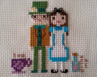 Customised Wedding/Anniversary Cross Stitch Portrait