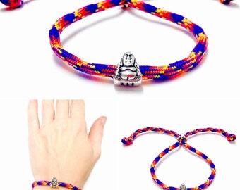 Paracord Buddha Bracelet - Buddha Bracelet - Paracord Bracelet - Silver Buddha Bracelet - Yoga Bracelet - Buddha Bead Bracelet - Adjustable