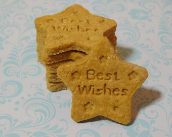 Best Wishes Dog Treats. New Arrival Dog Cookies. Get Well Soon Dog Biscuits. Healthy Dog Treats. Valentine's Day Dog Bones. Gift for Dogs.
