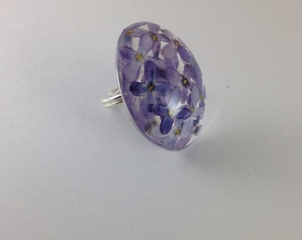 Lilac resin ring