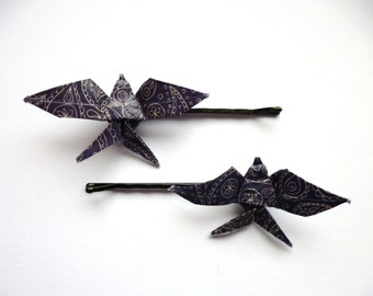 Origami Swallow Hair Clips