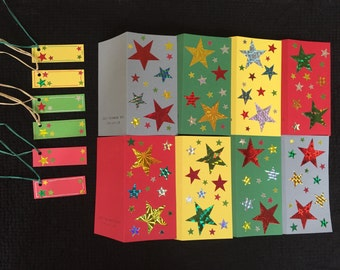 Christmas 8 Card plus 6 Swing Tag Pack #2
