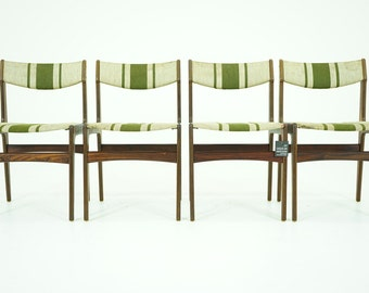 306-057 Danish Mid Century Modern 4 Rosewood Dining Side Chairs