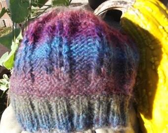 Multi-colored Lace Stitch Hat