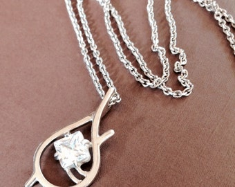 Handcrafted Tauriel 925 Sterling Silver Elven Pendant Necklace with Chain