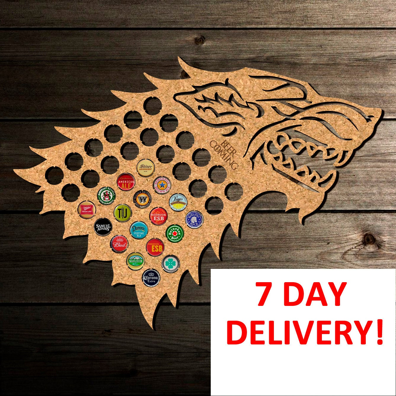 Beer Cap Map Game of Thrones. Winter is Coming Gift Christmas