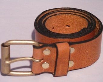 Classic 1 and half inch Leather Jean Belt for Sale - Will fit all Jean Loops - Men's and Ladies Made to Measure Designer Belt Waist Size