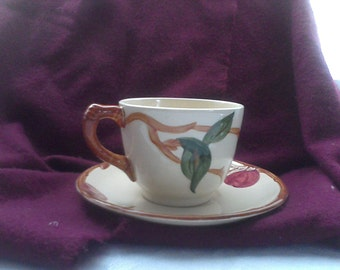 Franciscan Ware Apples Cup and Saucer