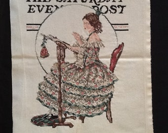 The Saturday Evening Post Completed Cross Stitch
