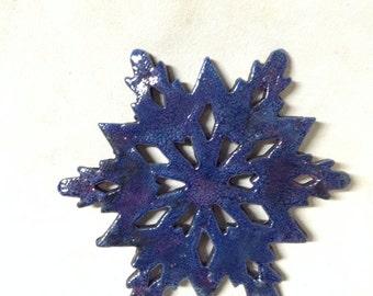 Blue RAKU Ornament