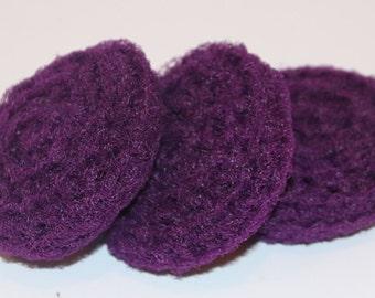Scrubbies Crochet Set of 3 Deep Purple