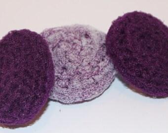 Scrubbies Crochet Set of 3 Purple Multi