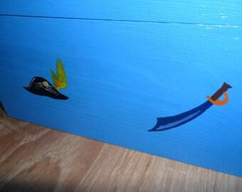 handmade blue pirate treasure box