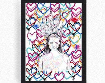 Kate moss art - kate moss print