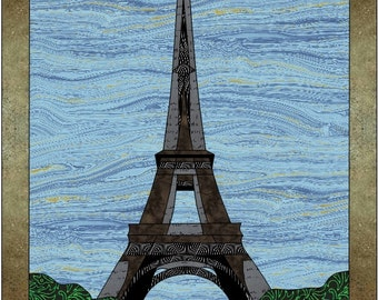 Eiffel Tower Applique Quilt Pattern