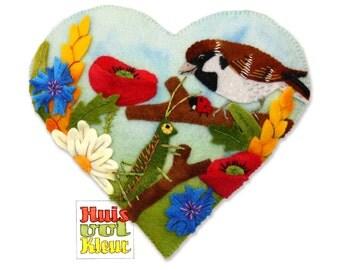 DIY Summer Heart Birds